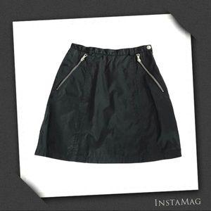 PRADA Black Nylon Mini Skirt